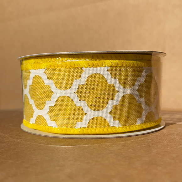 Yellow Linen/Wht Big Lattice, 1.5