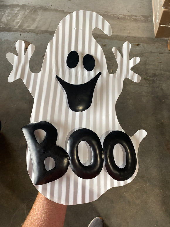 Metal Ghost Boo Sign W13Xh19  56649WTBL