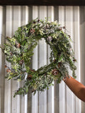 "Pinecone Winter Wreath 30""x30""x8"""