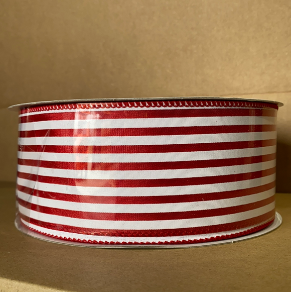 Red Stn/Wht Cabana Stripes, 2.5