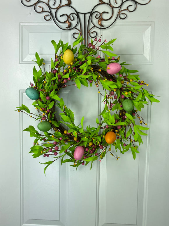16 In Easter Egg Wreath 60935 - DecoExchange