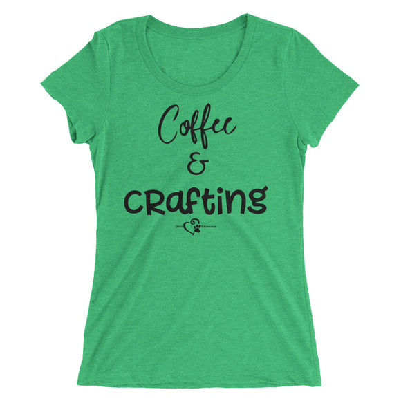 Coffee & Crafting - Ladies' short sleeve t-shirt - DecoExchange - DecoExchange