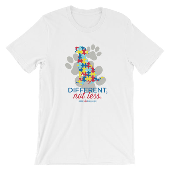 Different Not less Autism - Light Shirts 2 - Short-Sleeve Unisex T-Shirt - DecoExchange Autism Awareness - DecoExchange