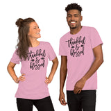 Thankful and Blessed Short-Sleeve Unisex T-Shirt Hurricane - DecoExchange