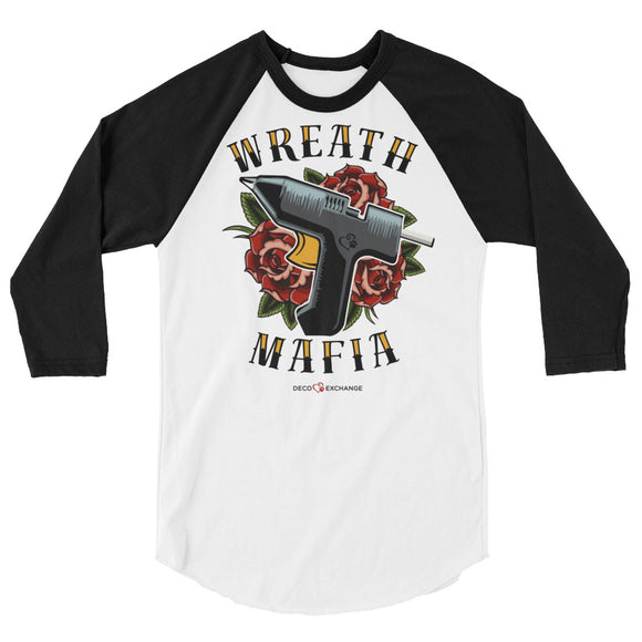 Wreath Mafia - Unisex 3/4 sleeve raglan shirt - DecoExchange - DecoExchange