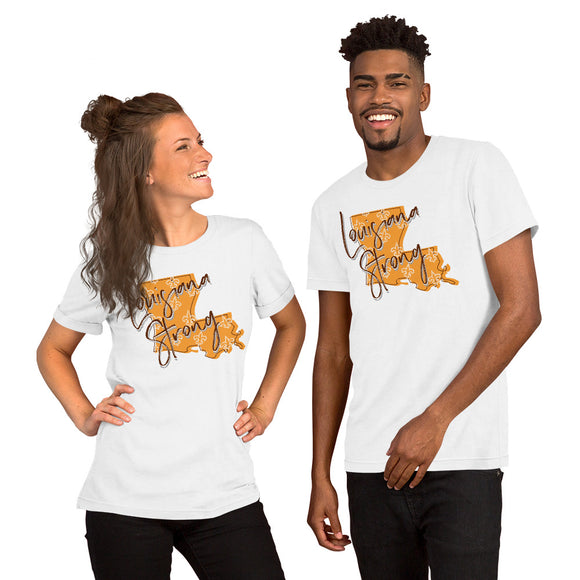 Louisiana Strong Shirt - Yellow - Short-Sleeve Unisex T-Shirt - DecoExchange