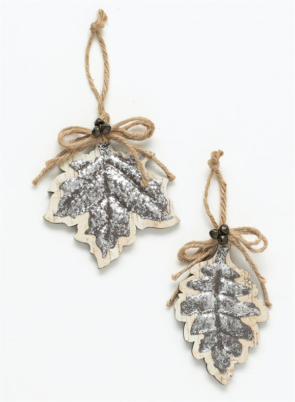 Leaves Ornament - 2 Assorted - 5.5