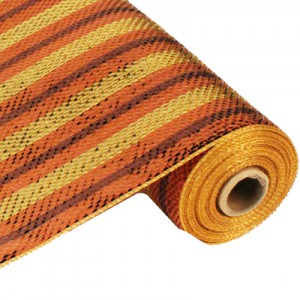 "21"" Poly Deco Mesh: Premium Copper/Brown/Gold Stripe RE1049X2"