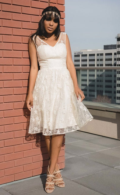 Ivory Wedding Belle Lace Dress