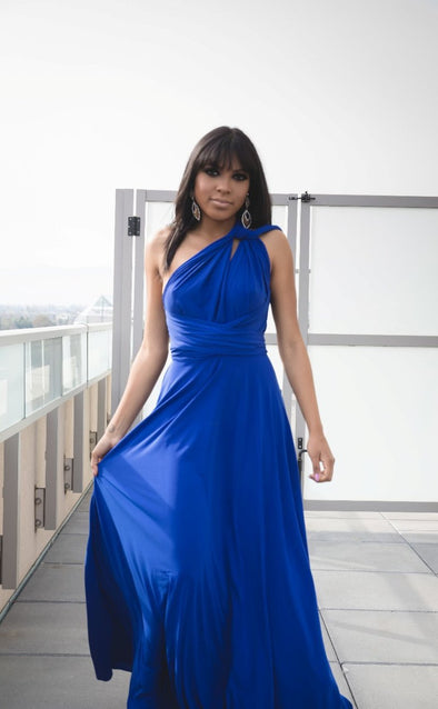 Cobalt Blue Convertible Wrap Dress