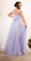Violet Purple Ball Gown Tulle Dress