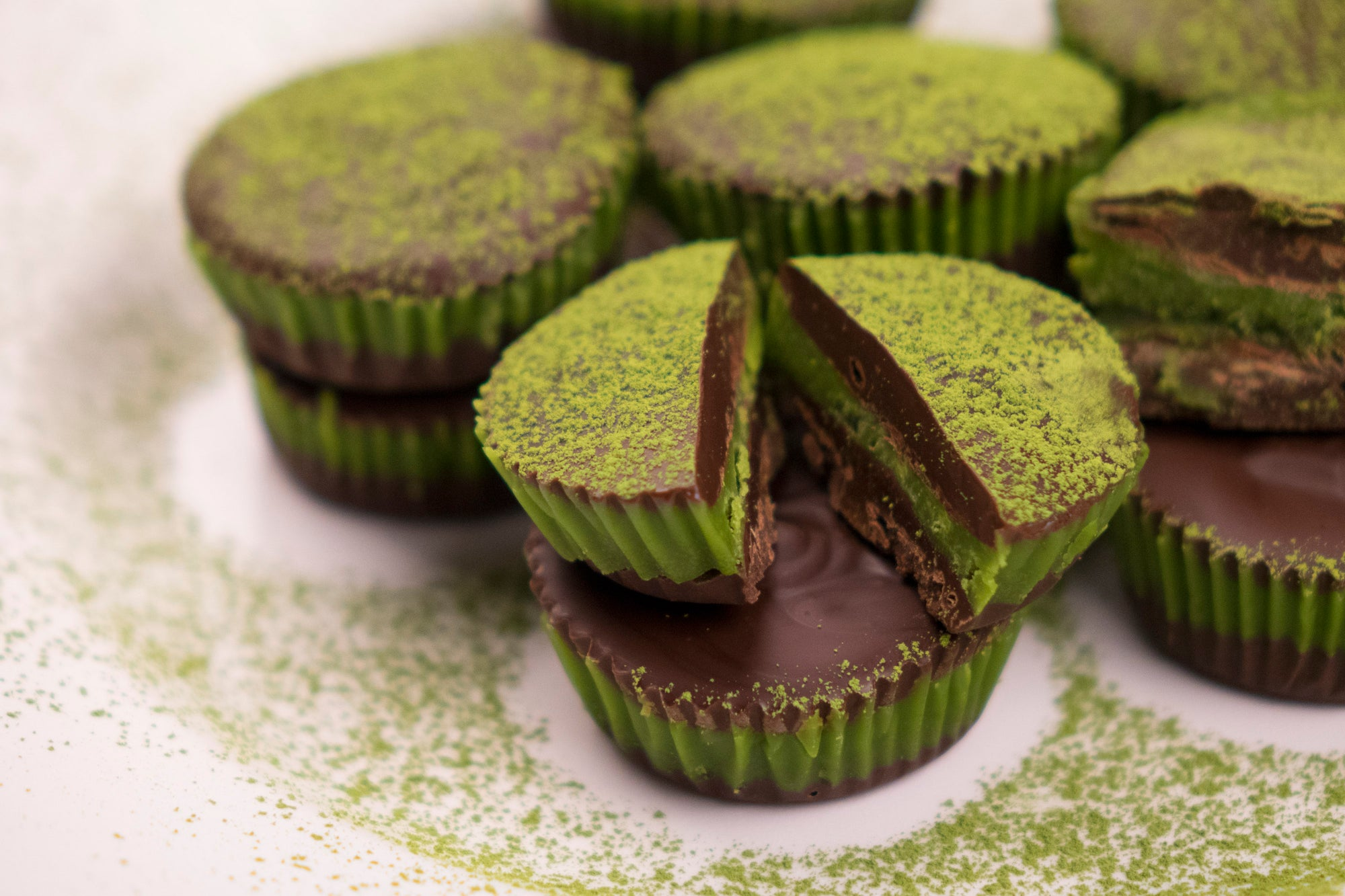 Delicious Matcha Chocolate Cups