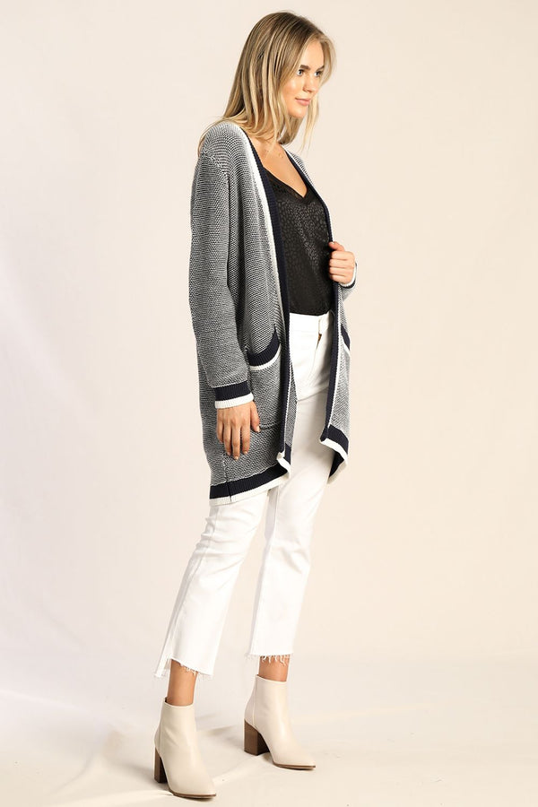 Stripe Border Cardigan