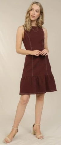 Contrast Stitch Dress