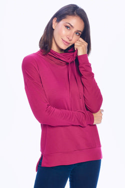 Cowl Neck Top Berry