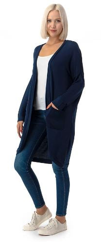 Jersey Knit Cardigan Navy