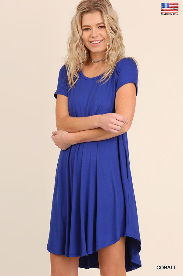 T-Shirt Dress Cobalt Blue