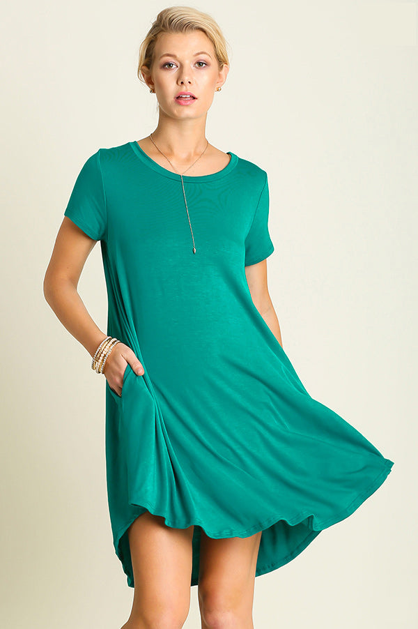 T-Shirt Dress Teal