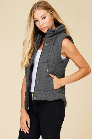 Quilted Vest Gray
