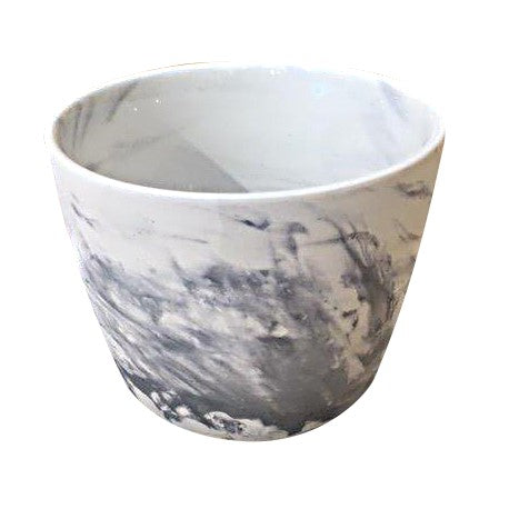 Y Ceramic Pot - Marble Finish