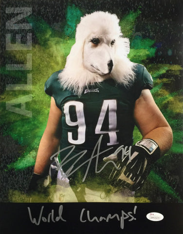 Beau Allen Signed Philadelphia Eagles 11x14 Underdog Mask Photo (JSA)