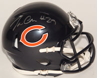 Tarik Cohen Signed Chicago Bears Mini Speed Helmet (Schwartz)