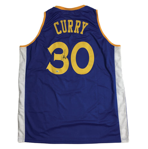 competitive price 95cb5 ef150 Stephen Curry Signed Golden State Warriors Basketball Jersey ...