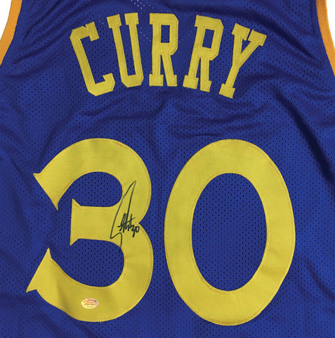 nzjpe Stephen Curry Signed Golden State Warriors Basketball Jersey fa4b3ab4f