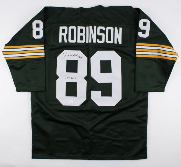 Dave Robinson Signed Throwback Packers Jersey Inscribed HOF 2013 (JSA)
