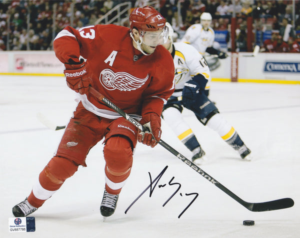 Pavel Datsyuk The Magic Man Signed Detroit Red Wings 8x10 Photo