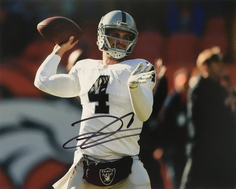Derek Carr Signed Oakland Raiders 8x10 Photo