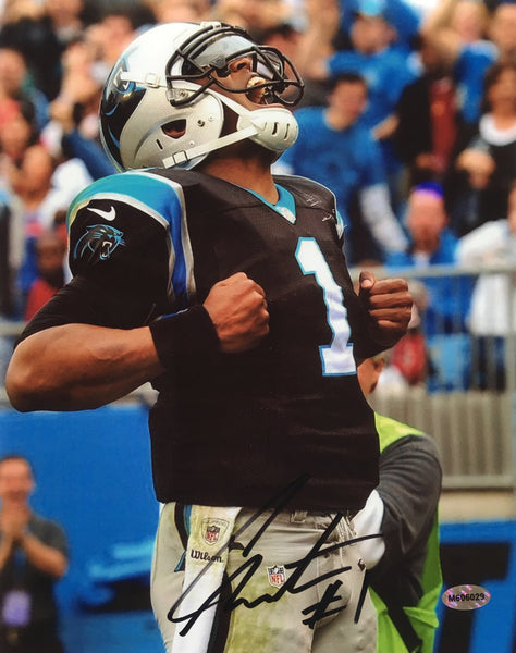 Cam Newton Signed Carolina Panthers 8x10 Photo Superman