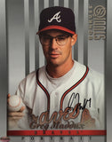 Greg Maddux Signed Atlanta Braves 1997 Donruss Photo Card