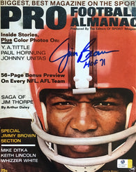 Jim Brown Signed Cleveland Browns 8x10 Magazine Cover Photo
