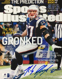 Rob Gronkowski Signed New England Patriots Sports Illustrated 8x10 Cover Photo