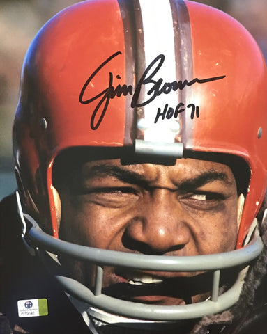 Jim Brown Signed Cleveland Browns 8x10 Photo