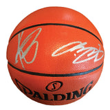 LeBron James & Kyrie Irving Signed Full Size Spalding Game Series Basketball