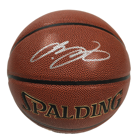 new product fe67f 8f518 LeBron James Signed Full Size Spalding Game Series ...