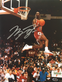 Michael Jordan Signed Chicago Bulls Slam Dunk Contest 8.5x11 Photo