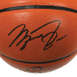 Michael Jordan Signed Chicago Bulls Full Size Spalding Game Ball Series Basketball