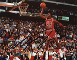 Michael Jordan Signed Chicago Bulls Slam Dunk Contest 8x10 Photo
