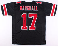 Jalin Marshall Signed Ohio State Buckeyes Black Jersey (JSA)