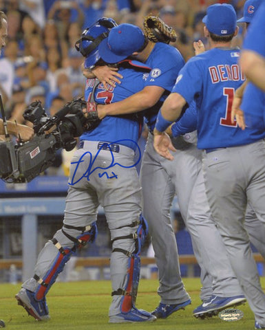 Miguel Montero Signed Chicago Cubs Celebration Hug 8x10 Photo (Schwartz)