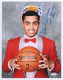 D'Angelo Russell Signed Lakers 2015 NBA Draft 11x14 Photo (PSA)