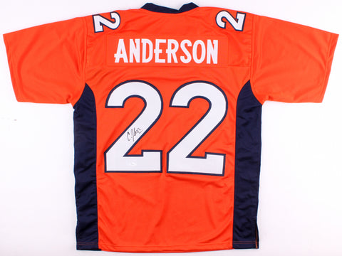 C. J. Anderson Signed Denver Broncos Orange Jersey (JSA)