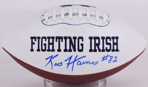 Kris Haines Signed Notre Dame Logo Football with Multiple Inscriptions (Haines Holo)