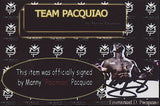 Manny Pacquiao Signed 8x10 Photo Inscribed Pacman (Pacquiao COA)