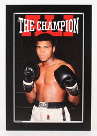 "Muhammad Ali 13""x19"" Custom Framed Photo Display"