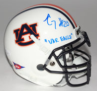 Corey Grant Signed Auburn Tigers Mini Helmet Inscribed War Eagle (JSA)