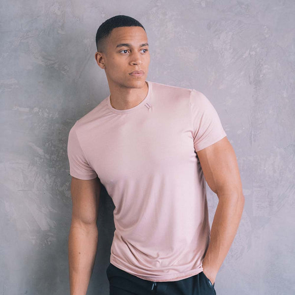Drop Cut T Shirt - Dusty Pink